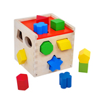 Best Education Nature Wood Toys for Kids Wooden Shape Sorter