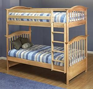 Orbelle Twin Over Twin Bunk Bed, Natural