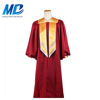 Multi Size Available 100% Matte Polyester Or SSH Fabric Choir Robe