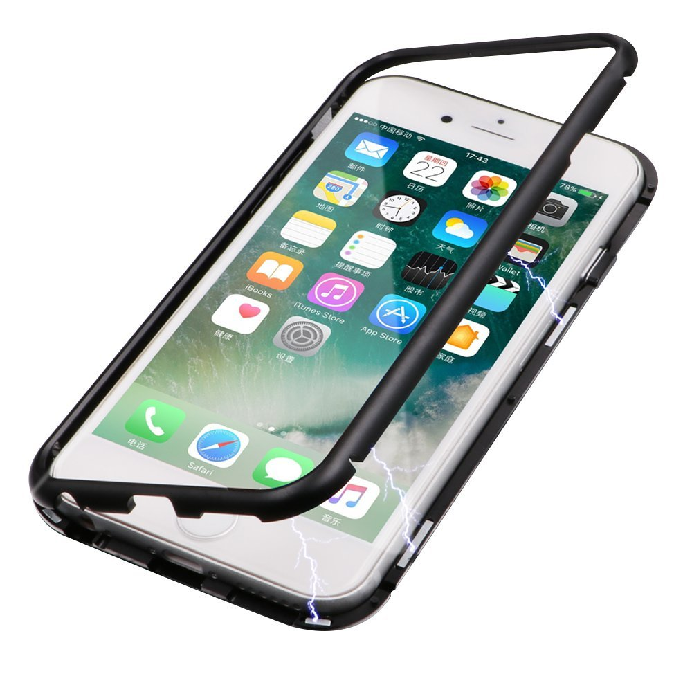 China Nano Metal Case Wholesale Alibaba 2in1 Gravity Full Cover Tempered Glass For Iphone 6 Plus