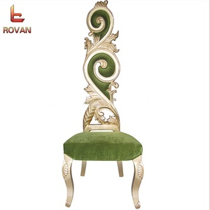 wholesale luxury spa gold throne chair royal cheap high back wooden king queen throne chair rental