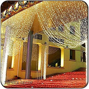 String Light Curtain Icicle Wall Lights For Wedding Home Decoration