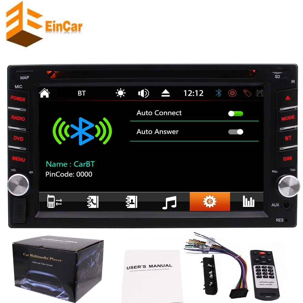 Large 6.2 inch 5 points Capacitive Multi-touch Screen double din car dvd player autoradio 2din main unit car pc in dash automagnitol no GPS car radio stereo atuo tactics with 7 color button back light