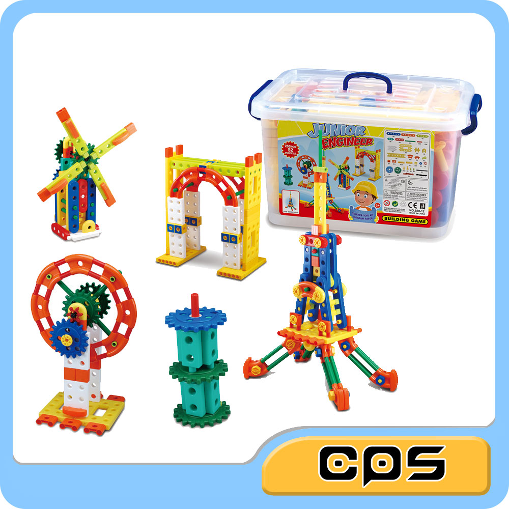 Kids 3D Playing Blocks Architecture Building Blocks Connected Blocks