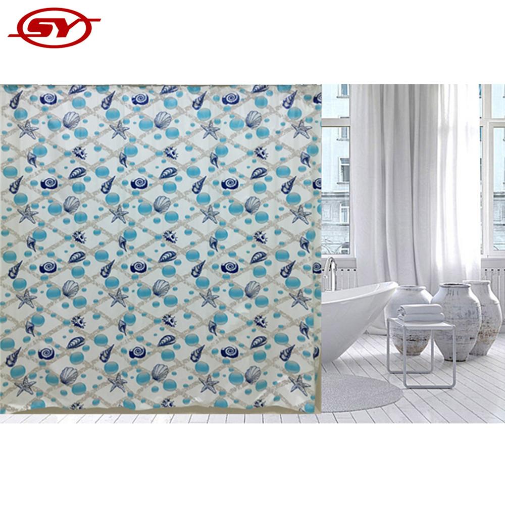 Ocean Design Pvc Home Goods Shower Curtains