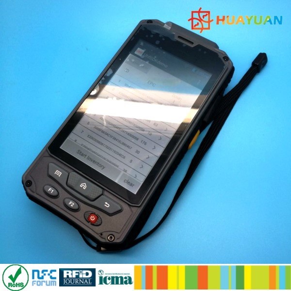 HUAYUAN Multi-function Barcode Smart Card Handheld UHF RFID Wireless Reader
