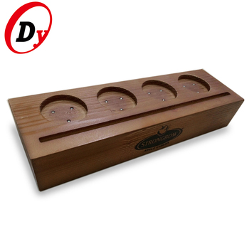 OEM factory custom made wood illuminated led edge lit sign base with logo printing
