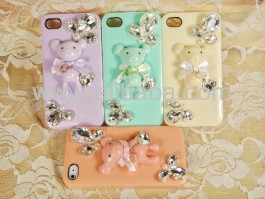 3D DIY Candy Handmade Bear Case Cover for iPhone 4 / 4s Samsung HTC, Nokia, Sony, Blackberry