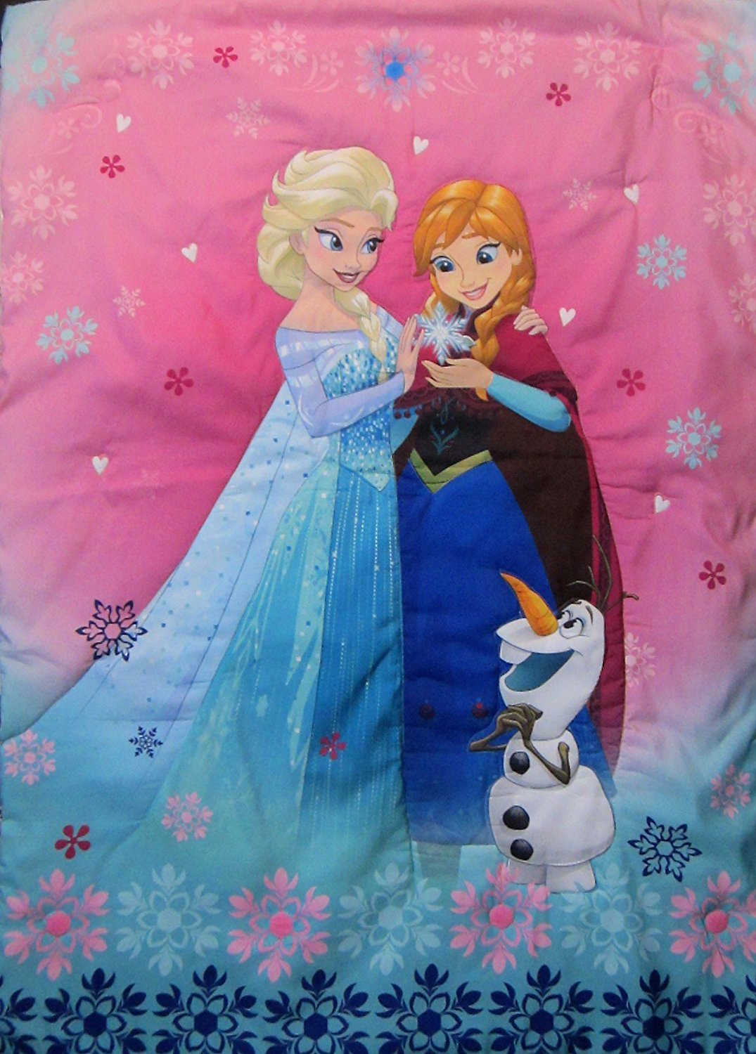Disney Frozen Sisters Forever 100% Polyester Microfiber (Comforter Only) Size Toddler