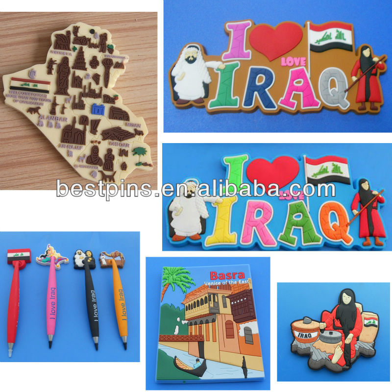 souvenir rubber Iraq fridge magnet (BS-JL-FM-14033112)