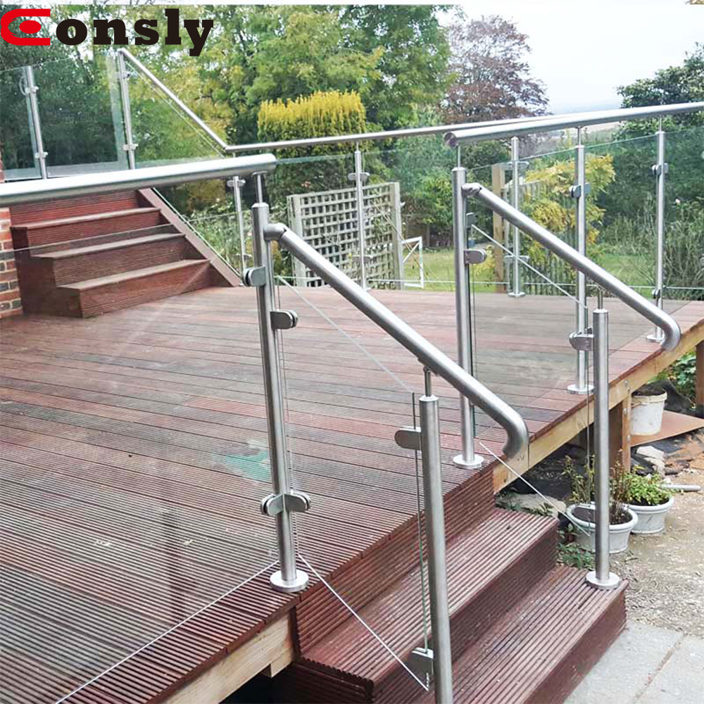 Aisi 304 / 316 Handrail Stainless Steel Square Fence Post