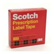 Scotch Prescription Label Tape, 1 Roll 1 in X 2592 in (72 Yards) (5 Pack)