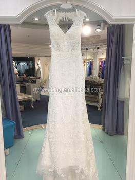 Retro Lace Elegant Slim Little Trailer Bride Light Outdoor Lawn Beach Holiday Wedding Dress