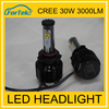 High quality China exporters H11 9007 led headlight 3000lm 30w