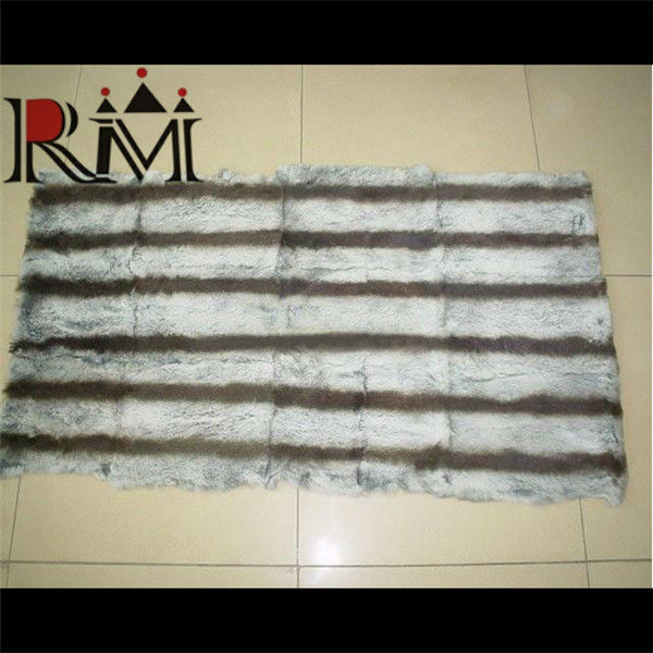 Top quality genuine chinchilla rex rabbit fur plate / fur throw