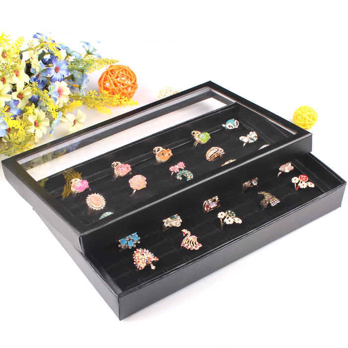Buy Organizer Show Case Jewelry Display Rings Holder Box New