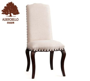 solid oak wooden newest modern design high back bar stool fabric upholstery dining chair