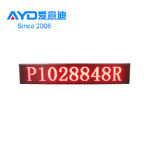 Factory Price P10 Single Red LED Advertising Sign for Supermarket