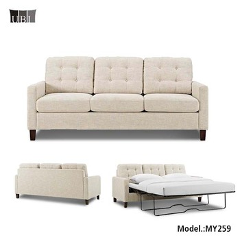 American Style Fabric Folding Sofa Bed Living Room Furniture Metal Mechanism Sleeper