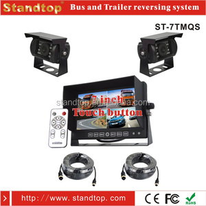 "7 INCH CAR REAR VIEW KIT BACKUP REVERSING SYSTEM / 4 PIN 7"" TFT LCD MONITOR + TWO PCS IR LED CCD WATERPROOF REVERSING CAMERA"