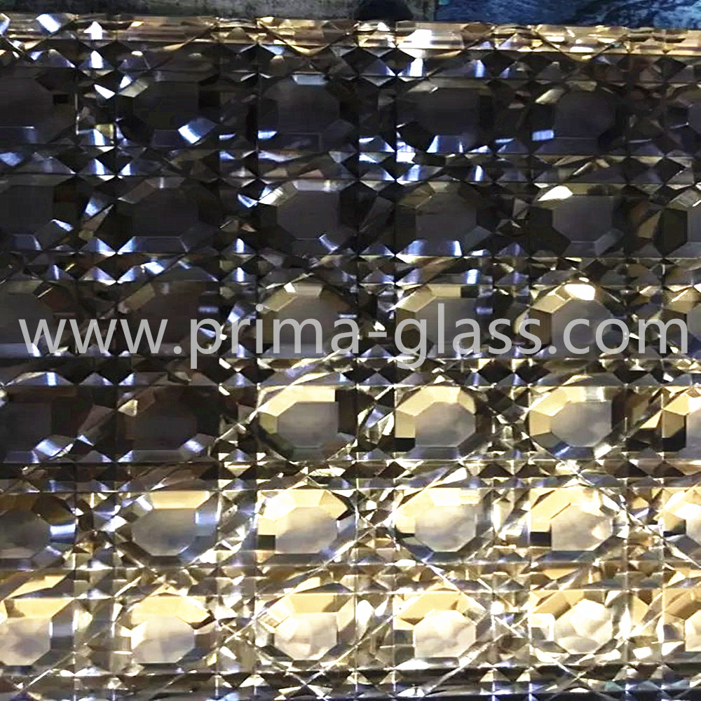 Prima architectural art carving laminated glass for interior application