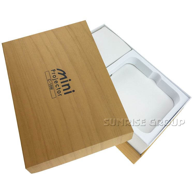Fake Wood Paint Coated Paper Cylinder Packaging Box For Cosmetic