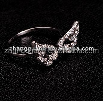 benutzerdefinierte metall engelsfl gel ringe ring produkt id 361352099. Black Bedroom Furniture Sets. Home Design Ideas