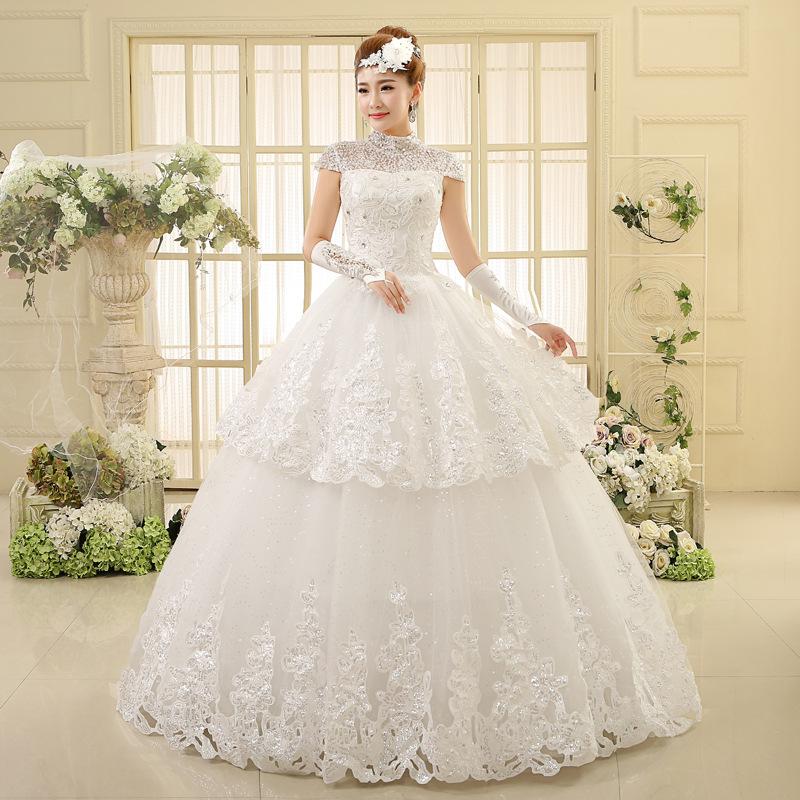 Venta al por mayor vestido de novia color beige corto-Compre online ...