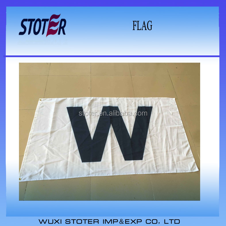 Chicago Cubs 2016 champion flag W flag
