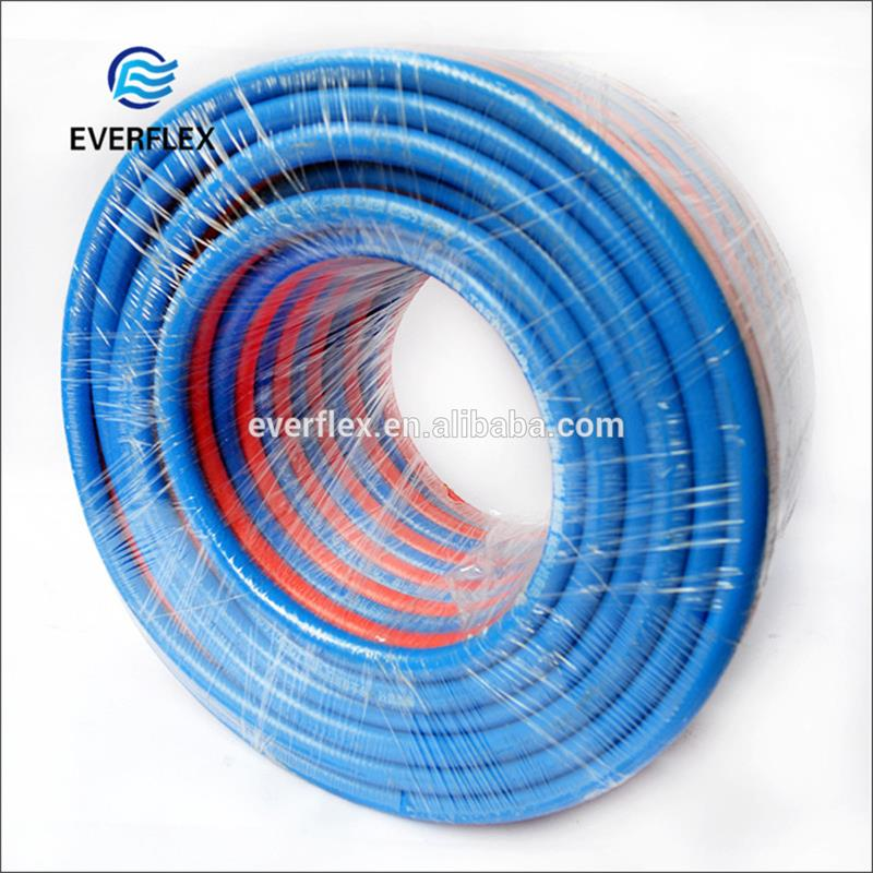 Wholesale cheapest price bendy low permeability air conveying plastic durable twin welding oxygen hose factory sale