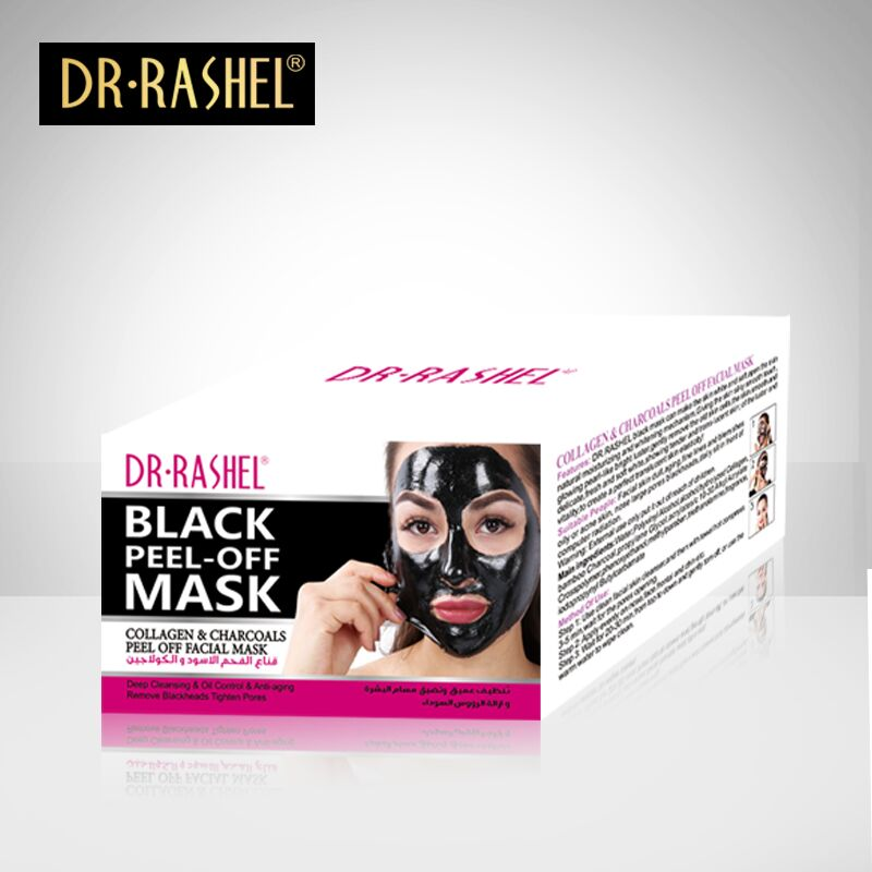 DR.RASHEL Collagen Charcoal black peel off facial Mask Black head remover face Mask 150ml