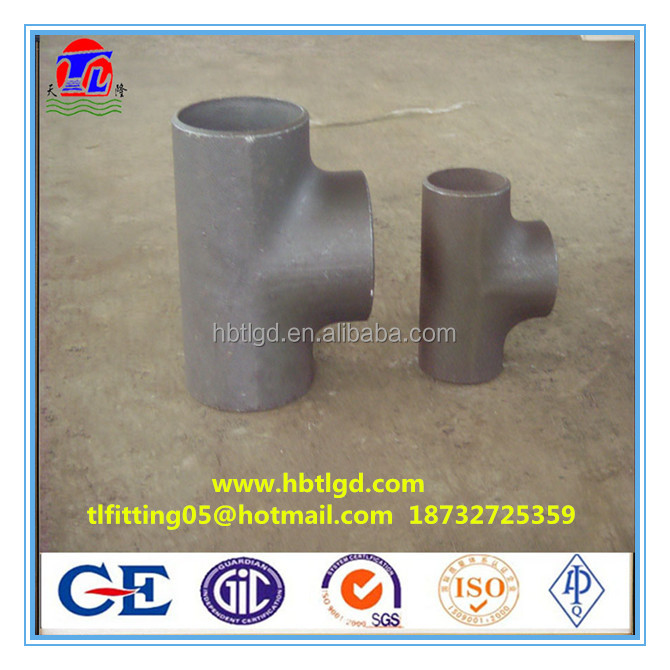 forged split straight tee and reducing tee carbon steel pipe fittings /elbow/reducer/bend/flange from Cangzhou