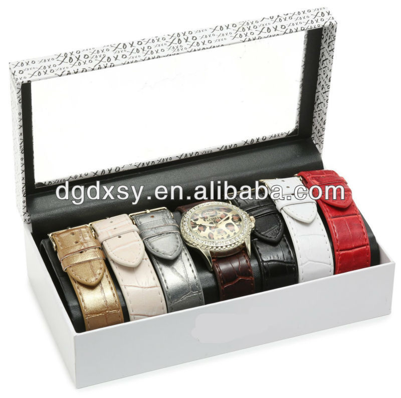 Interchangeable Strap Watch Gift Set With 3atm Japan Movment Watch ...