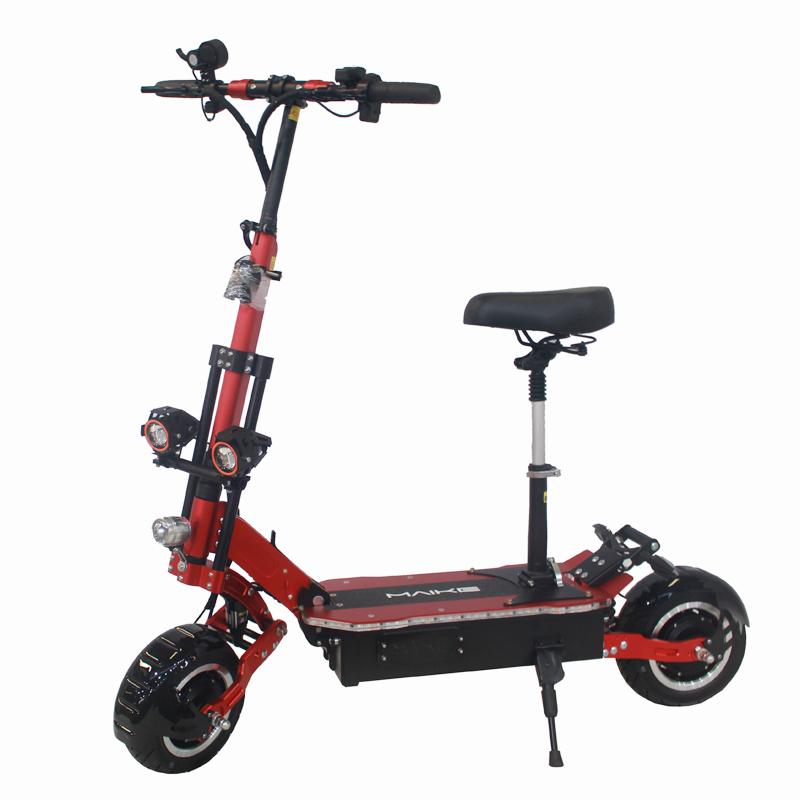 MAIKE KK10S Fast 5000W 11inch mobility off-road dual motor adult electric scooter, Red;black;gold