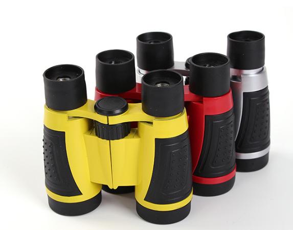Heißer bildung 5x30 kunststoff werbe bunte spielzeug fernglas für