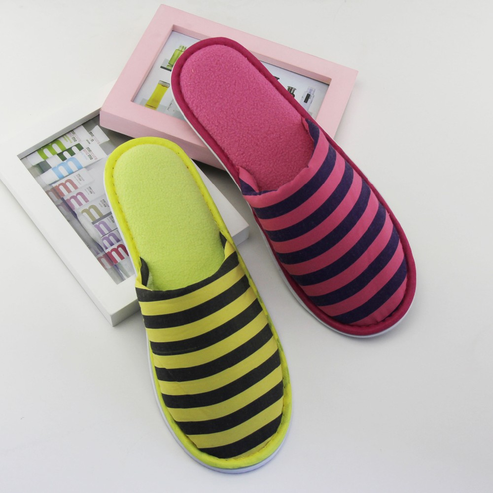 beautiful stripe closed toe indoor outdoor slipper for women