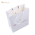 High - quality pink bridal letter printing jewellery paper bag white paper bag with handle