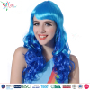 Styler Brand party halloween wigs cheap long wavy haircuts fiber hair blue and pink curly wig