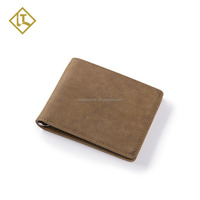 High quality Christmas promotion rfid blocking crazy horse card holder money clip wallet