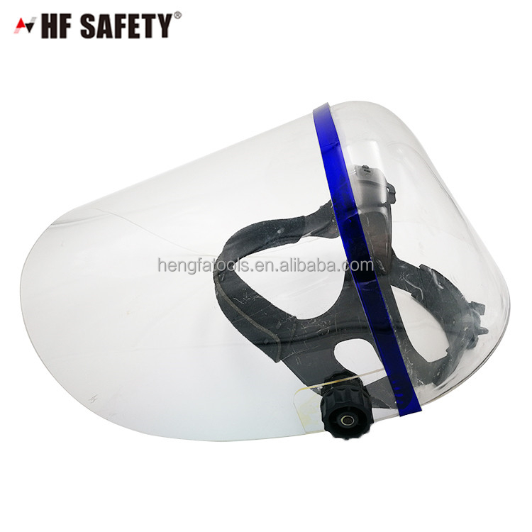 safety clear face shield helmet with flashing light