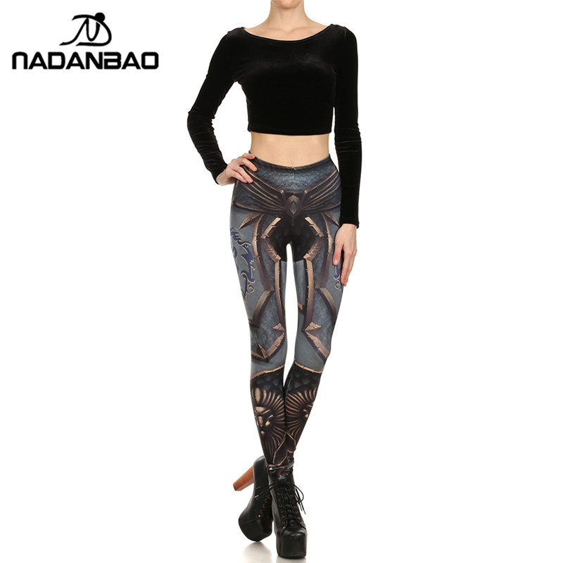 2017 funky Alliance Printed Women Leggings skinny Pants