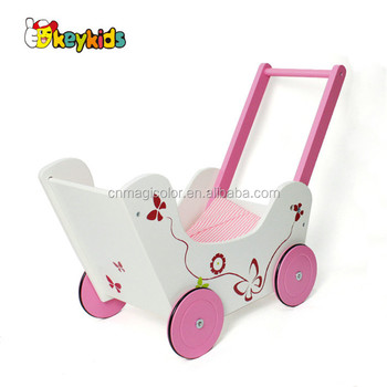 Wholesale elegant style wooden hand pull walker for baby used in home and outdoor W16E085