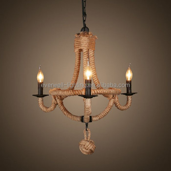 jute touw opknoping lamp,moderne kroonluchter lamp - buy jute touw