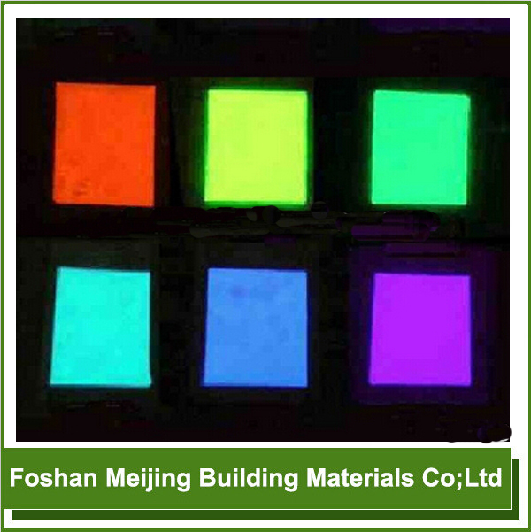 Fluorescence Vest Glow In The Dark Pigment For Mosaic Manufacture