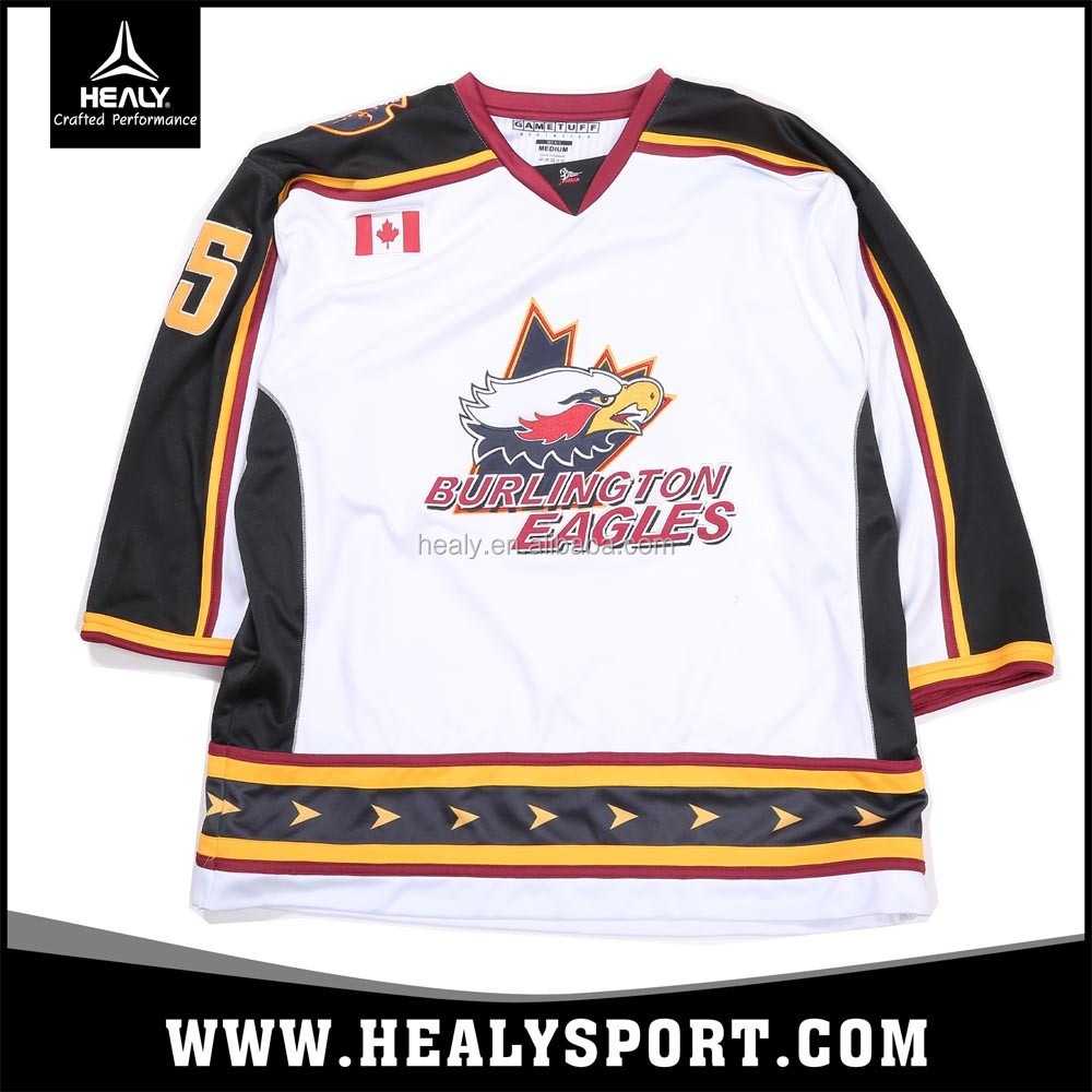 Custom New Season Toronto Burlington Eagles hockey team jersey