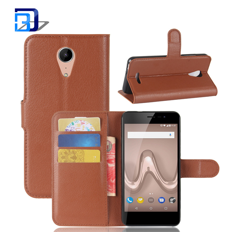 All inclusive phone case bracket wallet card bit left and right flip protector case for Wiko Tommy 2