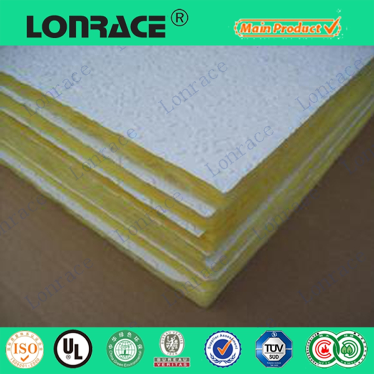 Heat insulation materials glass wool panel for sale