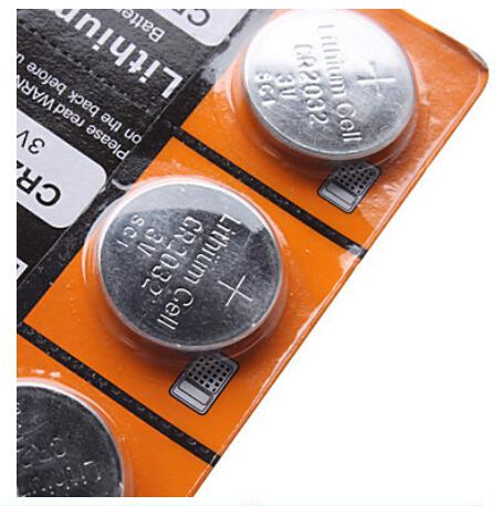5 шт./лот, Cr2032 3 В аккумулятор кнопка, Монет аккумулятор, Cr 2032 литиевая батарея для часов, Часы, Калькуляторы