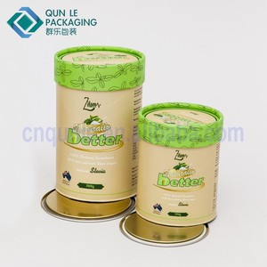 Custom Empty Turtle Foods Paper Canister Packaging Boxes