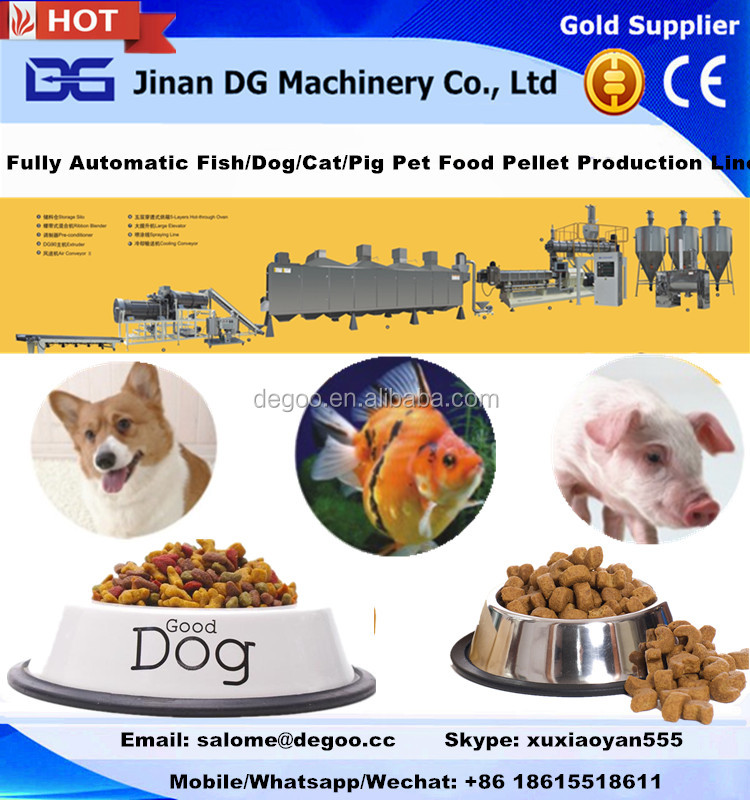 Automatic Practical nice looking fish feed pellet making mill machine from JInan DG Machinery